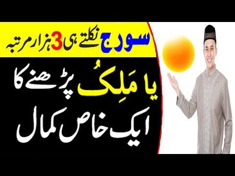 Suraj Nikalte Waqt Ya Maliku Parhne Ka Mojza - Ya Maliku Ka Wazifa - Success in Life