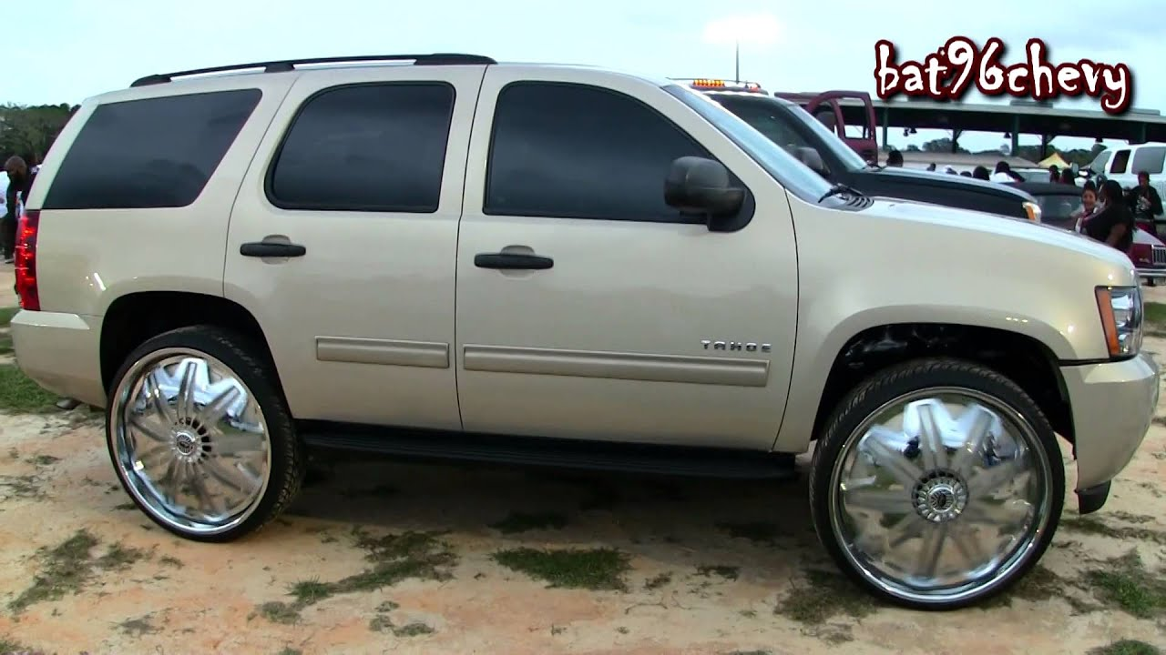 50 Inch Rims On Chevy : Chevrolet tahoe on quot davin pwrfl spinners p