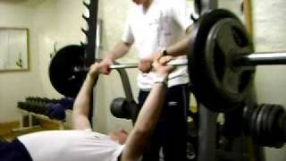 Martin 100 % RAW Bench Press 90 Kg x 5 Reps