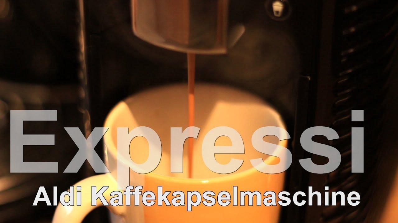 aldi expressi kaffeemaschine test mit dem kapselsystem. Black Bedroom Furniture Sets. Home Design Ideas