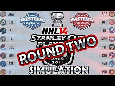 NHL 14 Stanley Cup Playoffs Simulation | Stanley Cup Playoffs 2014 (Round 2)