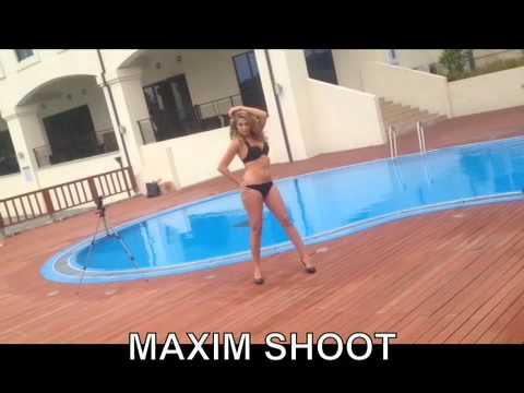 Miss Asia Pacific World Belgium - Golf & MAXIM magazine shoot