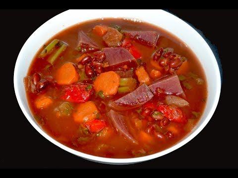 Sopa para bajar el colesterol, para limpiar el colon, para la anemia y perder de peso