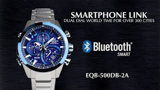 CASIO EDIFICE SMARTPHONE LINK EQB-500DB product video
