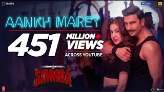 SIMMBA: Aankh Marey Full HD Status | Sara Ali khan,Ranveer singh | Full HD status | Best DJ Hit Song