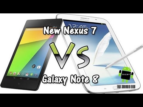New Nexus 7 vs Galaxy Note 8 (Comparison)