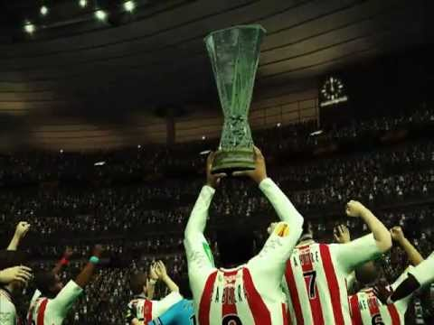 celebración Campeon final UEFA europa league Ser una leyenda peslord 2012
