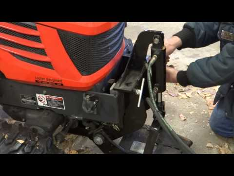 Kubota BX-24 Removing Loader. and Installing Snowblower