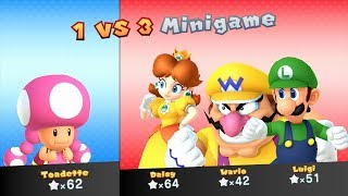 Mario Party 10 Mario Party #193 Daisy vs Toadette vs Wario vs Luigi Whimsical Waters Master