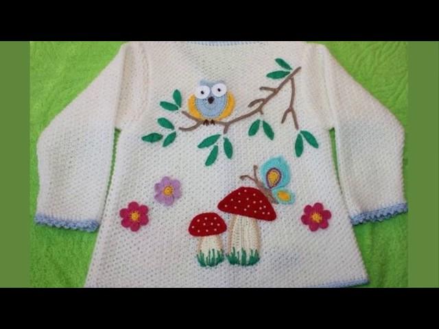 Модели вязания.Вышивка по трикотажу детских изделий