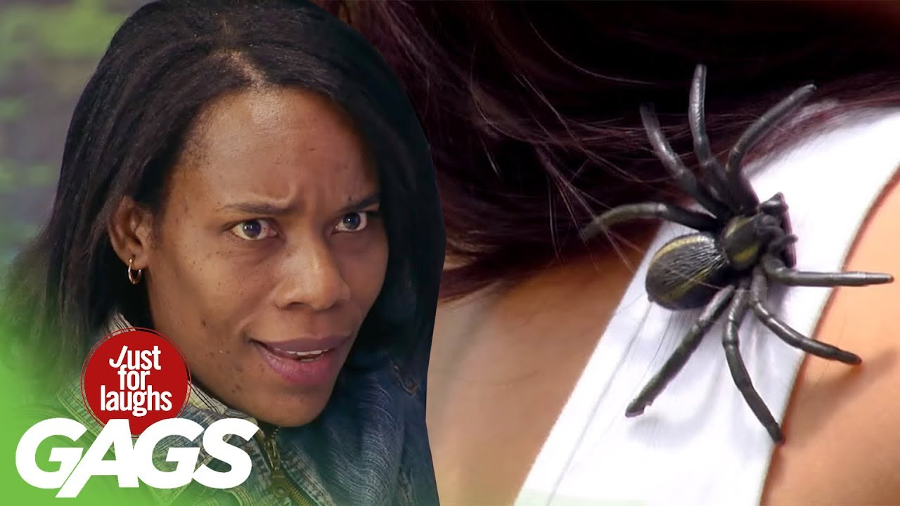 Prank አስቂኝ ሽወዳ:) SPIDER on Shoulder Prank