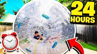24 HOUR GIANT HAMSTER BALL CHALLENGE!