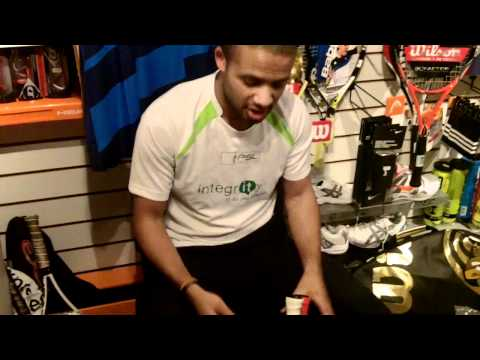 Top squash player Adrian Grant what's in the bag part 1