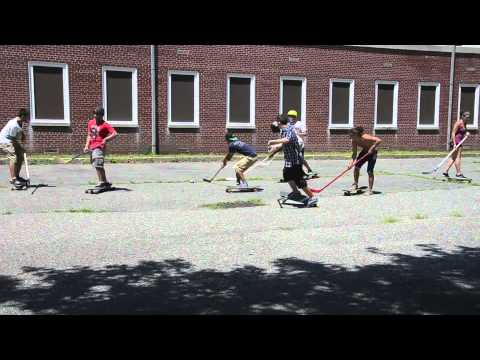 Longboard Hockey Game at Governors Island 2011