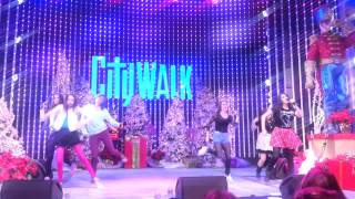 Cimorelli performs Boom at Universal CityWalk 12/16/12