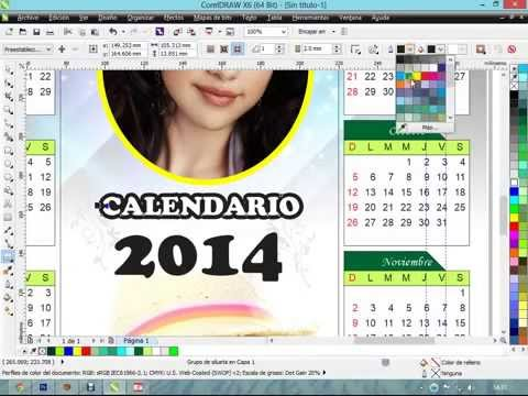 CREAR CALENDARIO EN COREL DRAW X6