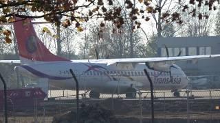 Airport Mönchengladbach ATR72 & F27 Fokker Friendship D-AELL ( PH-FON) 18 nov 2018