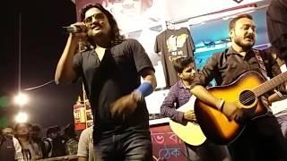Calcutta Blues Performing '' Rajkonya '' at Bangla Rock Magazine Stall