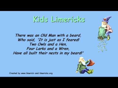 ♣☺ Kids Limericks - Example Limerick Poems ♣☺ video