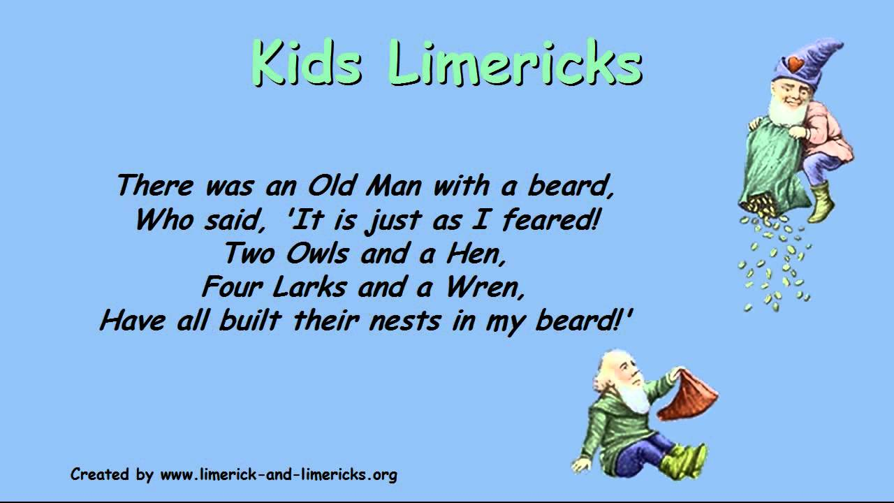 limerick format The best 75 funny limerick poems put together in a easy to read format containing examples of some famous, classic and funniest limericks.