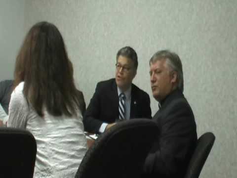 Chris Baker Debates Sen. Al Franken -- Health Care Video