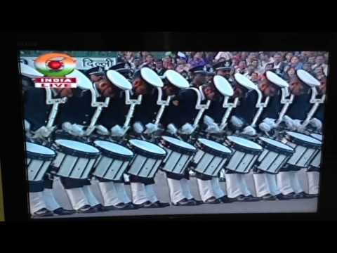 Indian navy & Air Force bands in beating the retreat