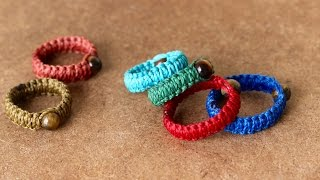 tutorial anillo en macrame | macrame rings