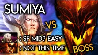 Sumiya Invoker God destroyed by a Shadow Fiend Boss? GG Epic Game Dota 2