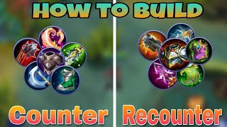 How to Build Mechanics | Counter build, Recounter build well Explained | Mobile Legends