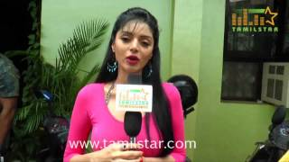Sanam Shetty At Kalaivendhan Movie Team Interview
