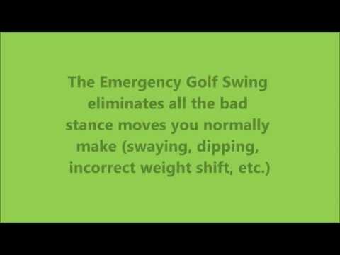 Emergency golf swing – home