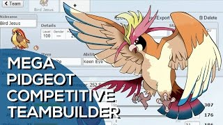 Mega Pidgeot Competitive Team Builder (Pokemon Showdown ORAS UU Facecam)