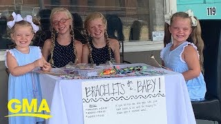 4 sisters make and sell bracelets so their parents can adopt l GMA Digital