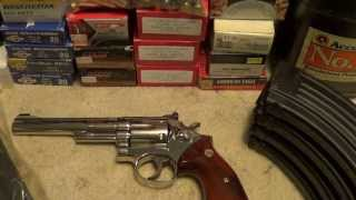Gun Show Goodies S&W 19-3 Nickel & Lots of Ammo, Mags, Powder