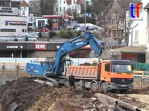 Liebherr R 944B Earthworks / Aushub Alter Postplatz Waiblingen, Germany,  11.01.2007.