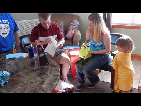 Cayden's First Birthday Party - Opening Presents