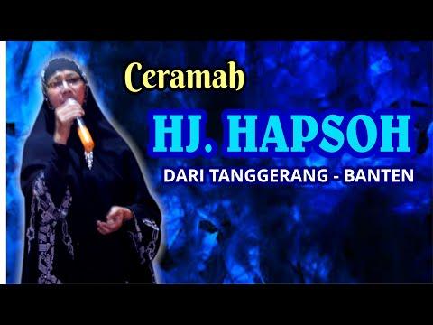 Ceramah Ustadzah Hj. Absoh - Tanggerang