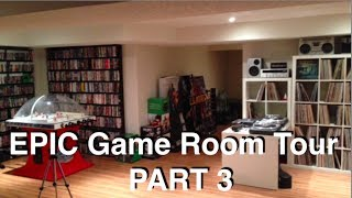 EPIC Game Room Tour 2014 - Gaming Setup - PART 3