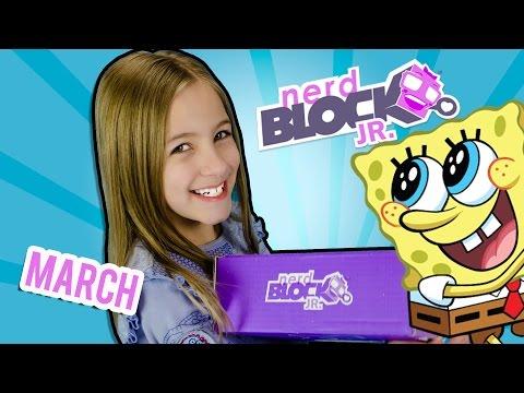 NERD BLOCK Jr. Girls MARCH Unboxing Video Review Nerdblock Toys  | PLP