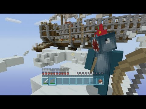 Minecraft Xbox - Air Ship Battle Royal - Squid & Stampy Vs Amy Lee & Fin