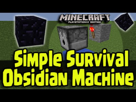 Minecraft PS4. PS3. Xbox - Small Survival Auto-Obsidian Machine Generator!