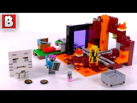 LEGO Minecraft 21143 The Nether Portal!   Unbox Build Time Lapse Review