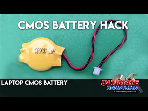 CMOS battery hack   Laptop CMOS battery
