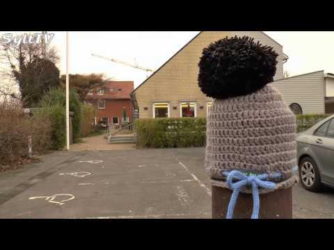 Guerilla Stricken auf Sylt verschönert den Parkplatz der Lebenshilfe