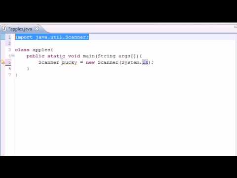 Java Programming Tutorial - 6 - Getting User Input