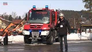 Onlinemotor Unimog U218 als TLF 2000 Feuerwehraufbau der Fa  Schlingmann Unimog WinterTour 2019 Schl