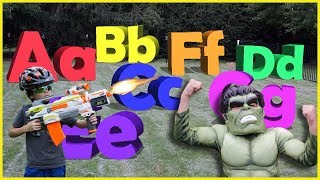 Pretend Play Avengers HULK, Learning ABC Letter Alphabets