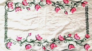 FABRIC PAINTING - Pillow Cover design By Premlata