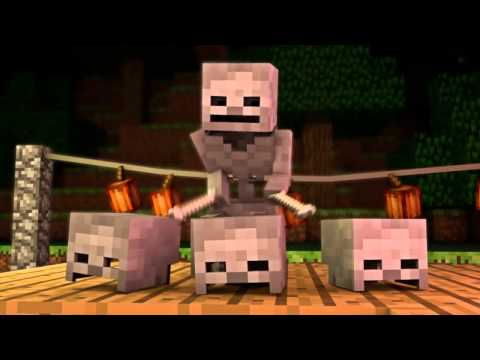 Halloween Mob Party Minecraft Animation FrediSaalAnimations