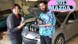 2013 Mazda-3 2.0L Oil change & Amsoil Flush